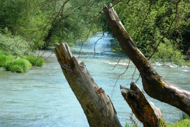 Φράγμα του Λάδωνα και η τεχνητή λίμνη του.