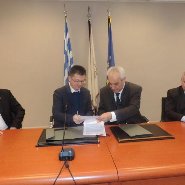 Υπογραφή Μνημονίου Συνεργασίας του Δημοκριτείου Πανεπιστημίου Θράκης με το Πανεπιστήμιο της Guangzhou της Κίνας.